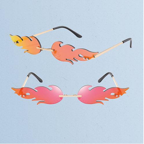 Retro Flamin' Sunglasses in Red