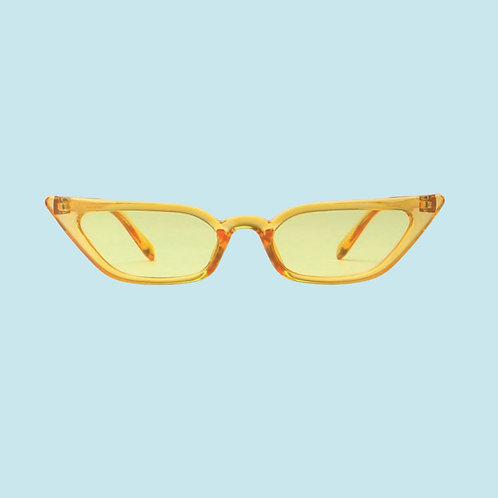 Slim Cat Eye Sunglasses in Yellow