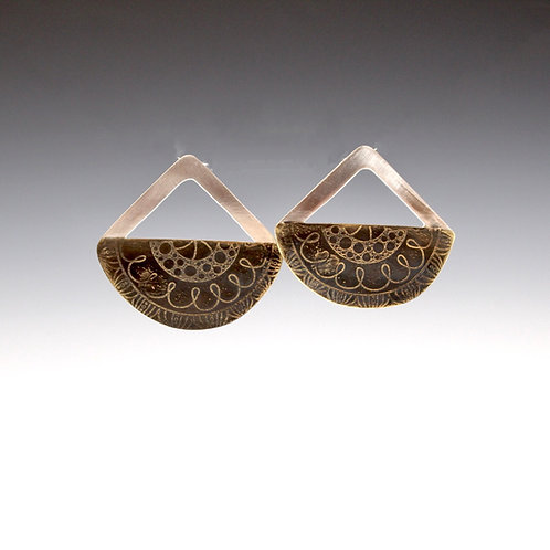 Half Moon Mandala Earrings