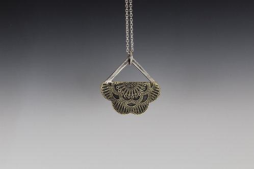 Etched Mandala Pendant