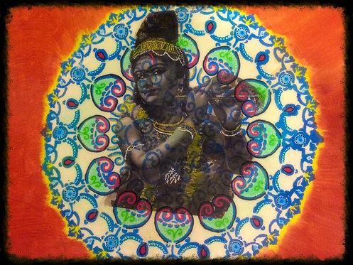Krishna Mandala Print