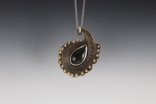 Velvet Obsidian Amulet