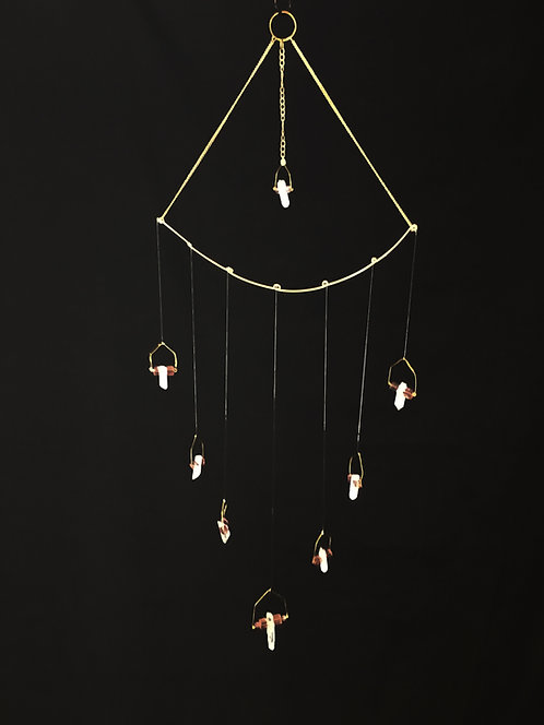 Crystal Points Hanging Mobile