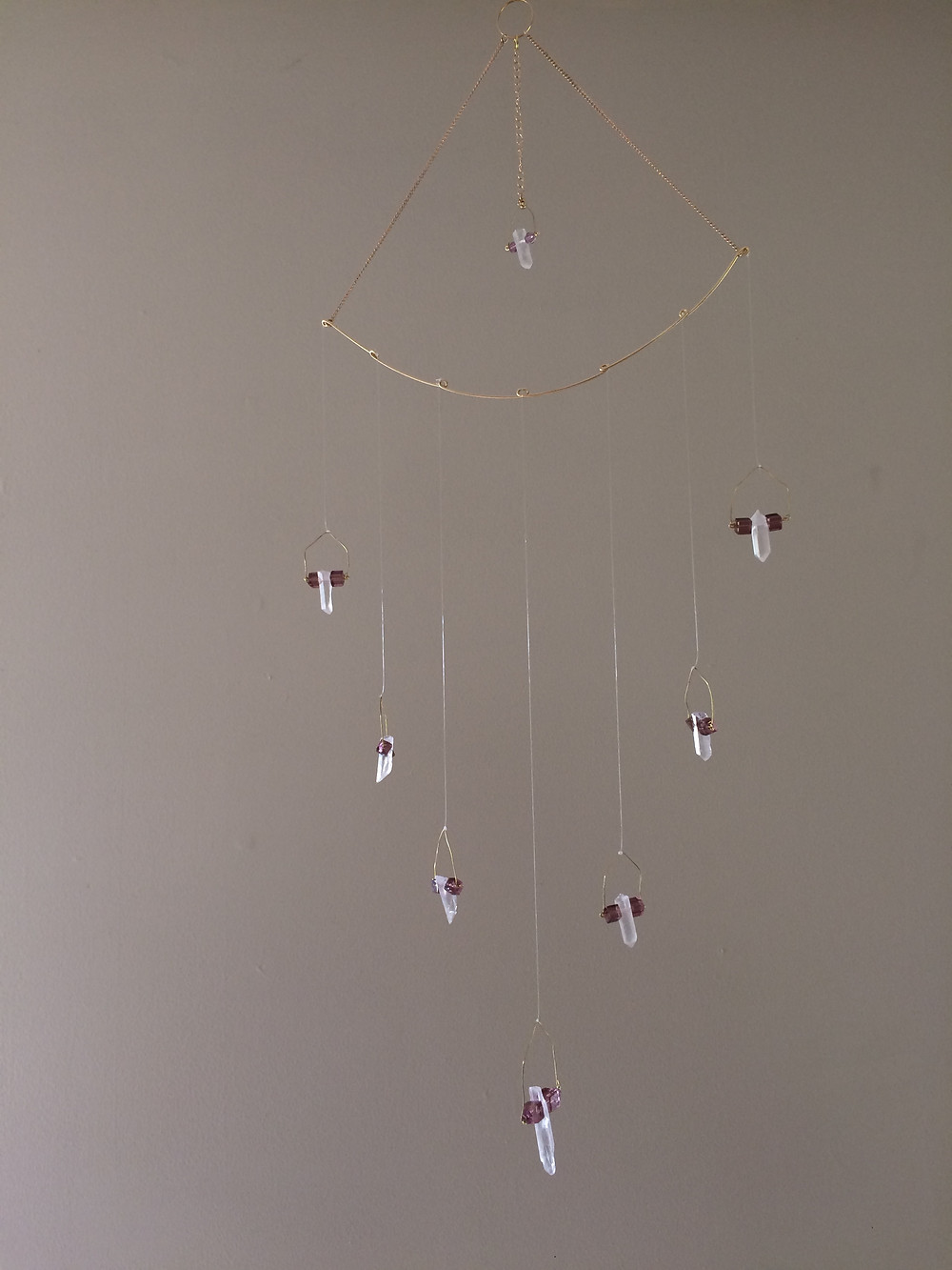 crystal point hanging mobile