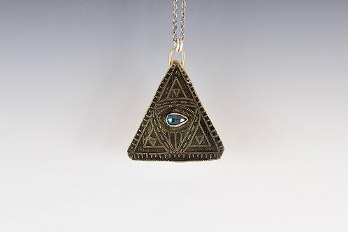 Kyanite Pyramid Talisman