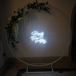 Introducing our new neon sign and hoop!