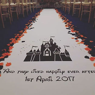 We can provide custom made aisle runners