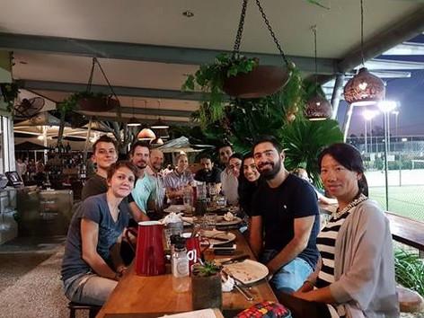 Farid's farewell dinner