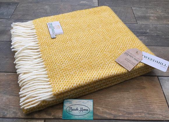 Tweedmill Textiles Yellow Beehive knee blanket