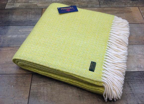 Tweedmill Textiles Pure New Wool Zest Illusion Throw/Bla