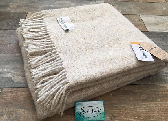Tweedmill Textiles cream 50% wool 50% recycled wool Throw/Blanket
