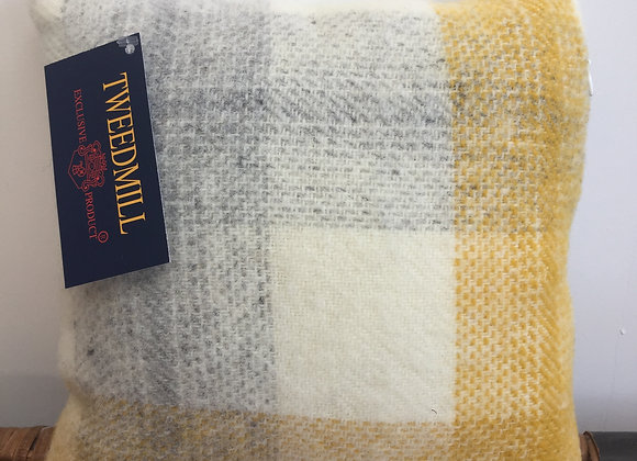 Tweedmill Textiles Pure New Wool Yellow Meadow 30x30 Cushion