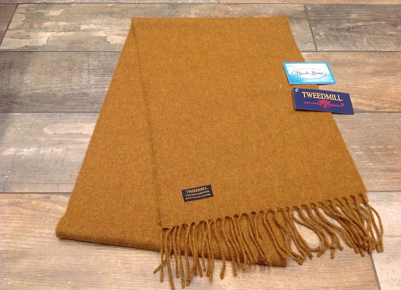 Tweedmill Textiles Pure New Lambswool Old Gold Scarf