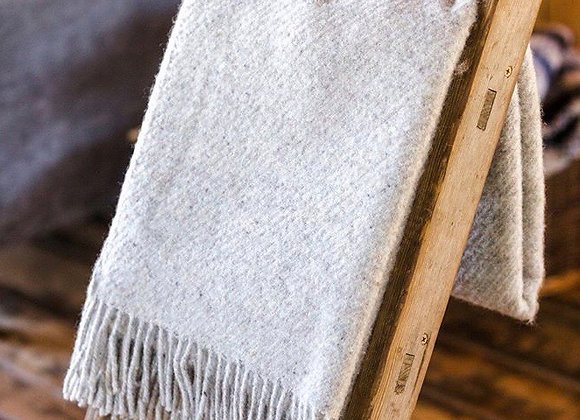 Tweedmill Textiles cream 50% wool 50% recycled wool Throw/Blanket