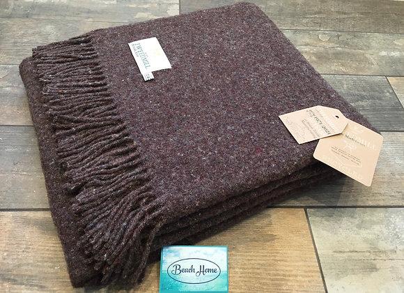 Tweedmill Textiles brown 50% wool 50% recycled wool Throw/Blanket
