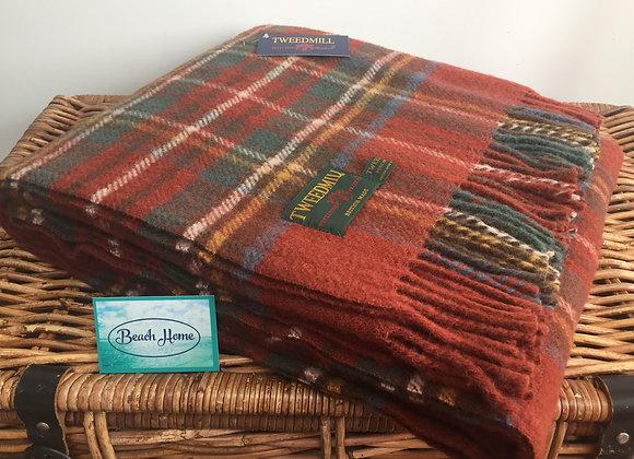 Tweedmill Textiles Pure new wool Antique Royal Stewart Tartan blanket/ throw/rug