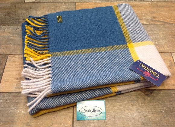 Tweedmill Textiles Ink, yellow and grey Tartan check wool knee Bla