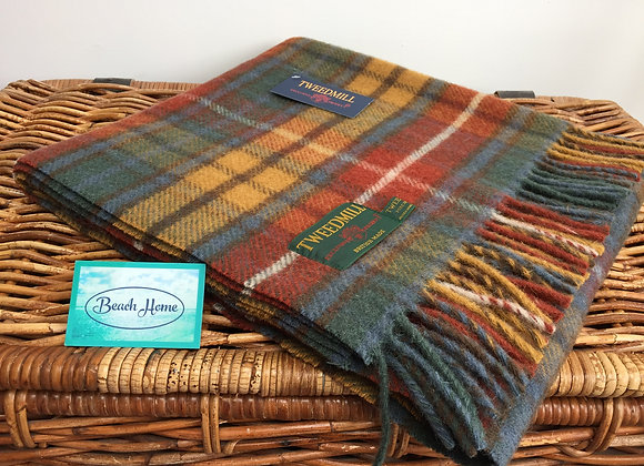 Tweedmill Antique Buchanan Tartan knee blanket/rug