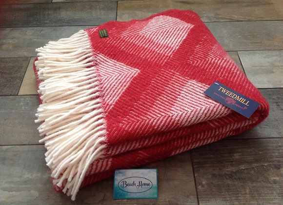 Tweedmill Textiles Pure New Wool Watermelon Prism Throw/Blankete