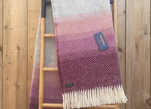 Tweedmill Textiles Pure New Wool Rosewood Ombre Throw/Blanket