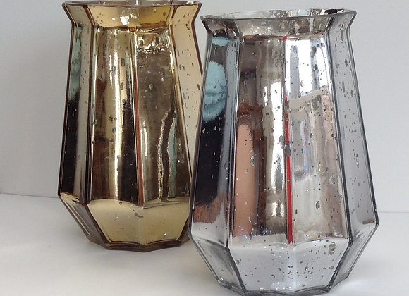 Gisela Graham Gold or silver Lustre Vase