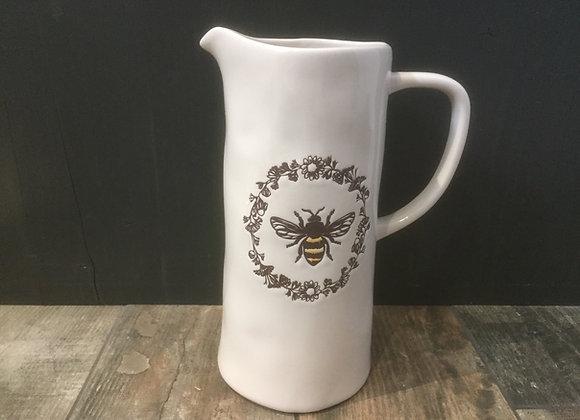 Gisela Graham medium vintage/rustic look bee motif jug