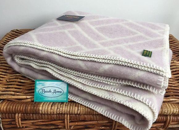 Tweedmill Textiles Pure New Wool lilac brick jacquard Blanket/Throw