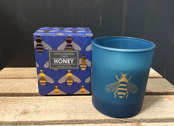 Gisela Graham Honey scented bee candle in gift box 40hr burning time