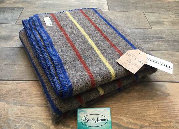 Tweedmill Textiles Recycled Wool mix stripe Dog/small travel blanket