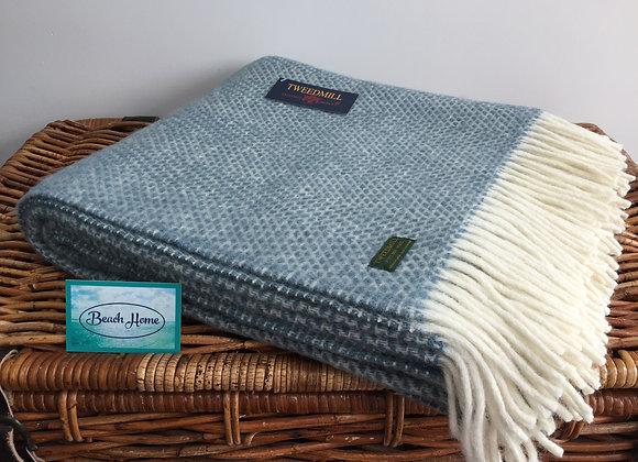Tweedmill Textiles Pure New Wool Petrol Blue Beehive Throw/Blanket