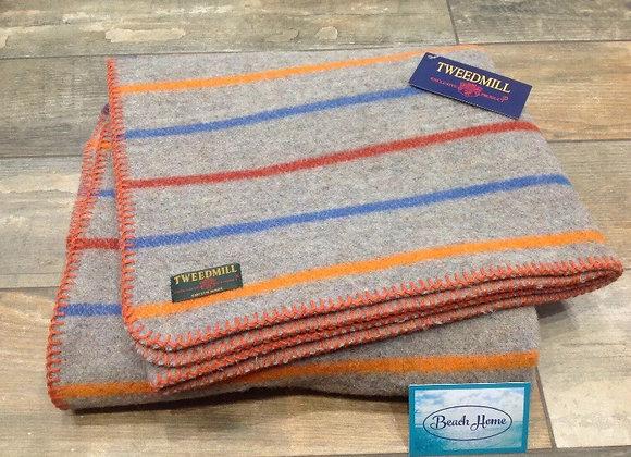 Tweedmill Textiles Recycled Wool random stripe Dog/small travel blanket