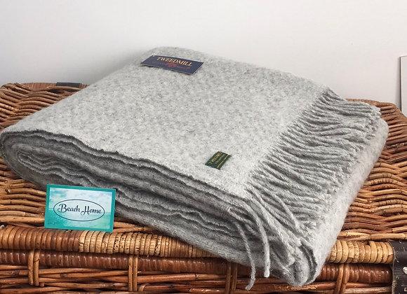 Tweedmill Textiles Pure New Wool grey wafer Throw/Blanket