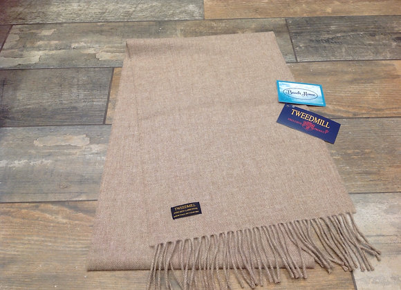 Tweedmill Textiles Pure New Lambswool Light Fawn Scarf