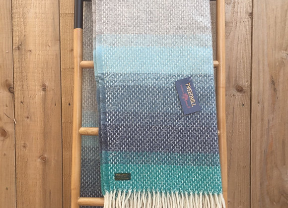 Tweedmill Textiles Pure New Wool Seaside Ombre Throw/Blanket