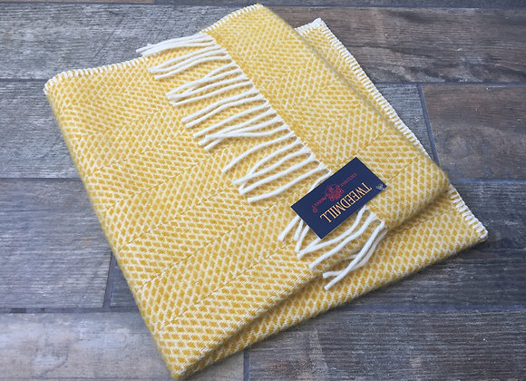 Tweedmill Textiles Pure New Wool Yellow Beehive Baby/Pram Blanket