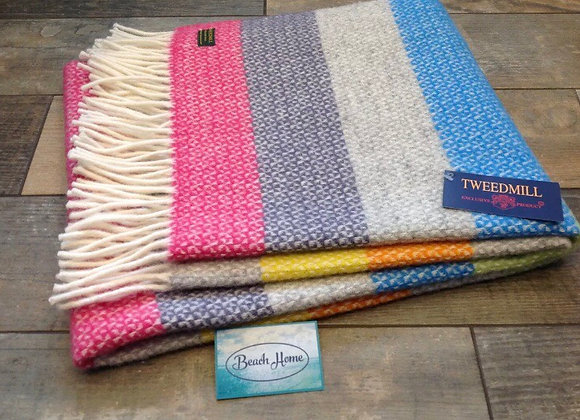 Tweedmill Textile Tutti Illusion stripe knee blanket
