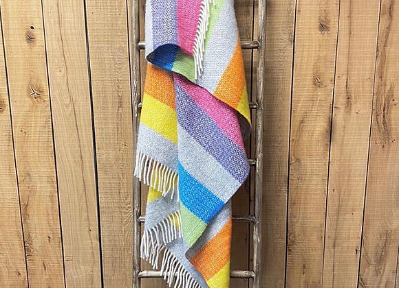 Tweedmill Textiles Tutti Illusion stripe blanket/ throw