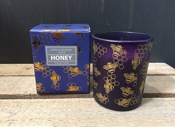 Gisela Graham Honey scented bee candle in gift box 20hr burning time