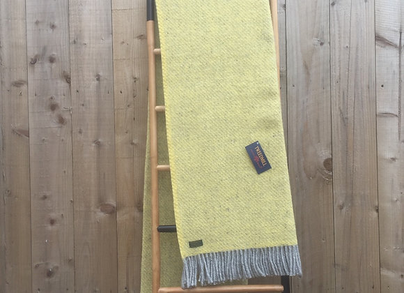Tweedmill Textiles Pure New Wool Yellow and Grey Boa Throw/Blanket 150x200