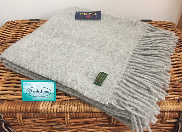 Tweedmill Textiles Grey Wafer knee blanket/ shawl