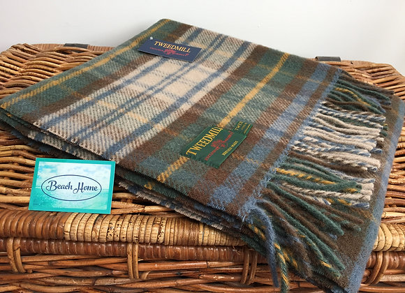 Tweedmill Textiles Antique Dress Gordon tartan pure wool knee blanket