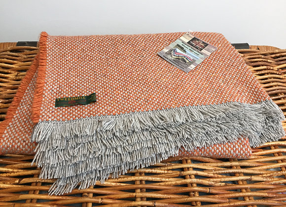 Tweedmill Textiles Rustic Orange recycled blanket