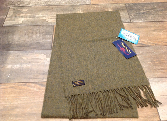 Tweedmill Textiles Pure New Lambswool Gorse green Scarf