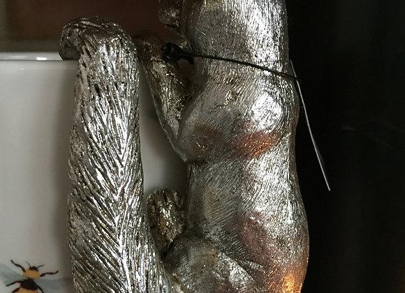 Parlane platinum coloured resin fox pot hanger