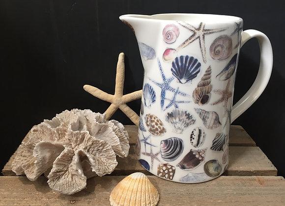 Gisela Graham bone China large shells/starfish jug
