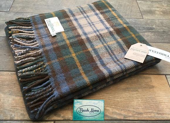 Tweedmill Textiles Antique Dress Gordon tartan pure wool knee blanket