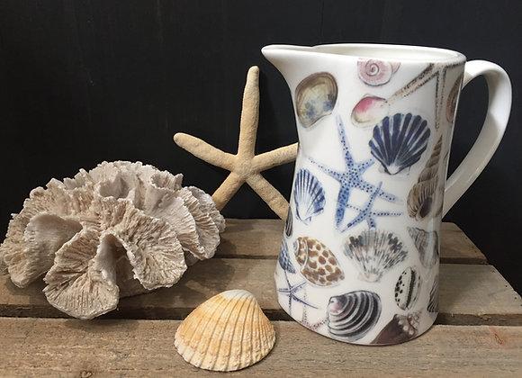 Gisela Graham bone China medium shells/starfish jug