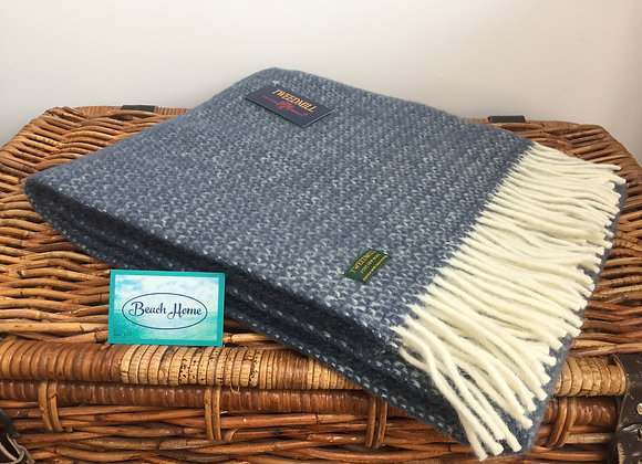 Tweedmill Textiles Slate blue illusion knee blanket