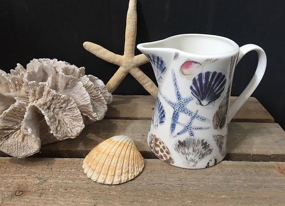 Gisela Graham bone China small shells/starfish jug