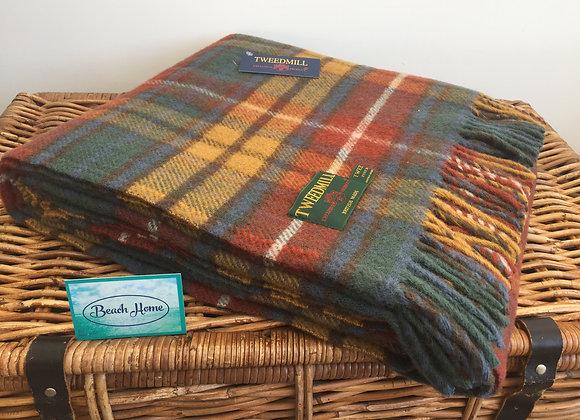 Tweedmill Textiles Pure New Wool Antique Buchanan Tartan Blanket/Throw/Rug